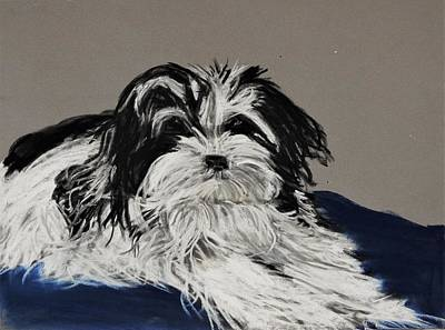 CustomLittleHome Black and White Shih Tzu Dog Custom Lapotp Sleeves Bags 13 Art Printing Twin Sides