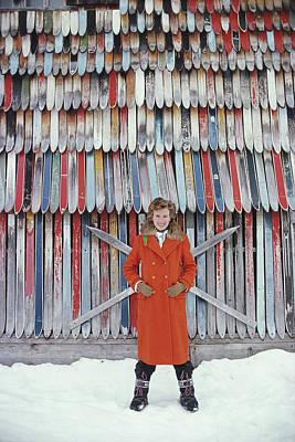Ski Photograph - Princess Ruspoli by Slim Aarons