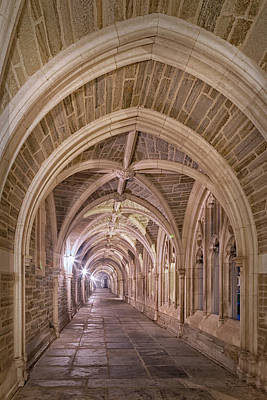 Photograph - Princeton University Hallway Evening by Susan Candelario