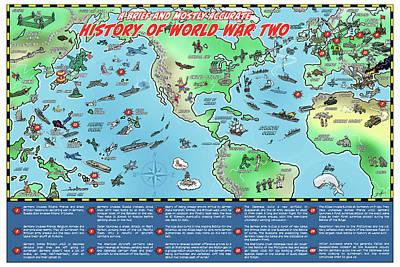 Digital Art - World War Two Map by Barry Munden