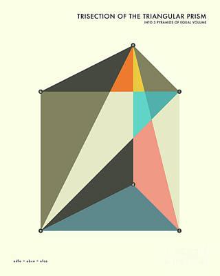 Formula Wall Art - Digital Art - Prism Trisection by Jazzberry Blue
