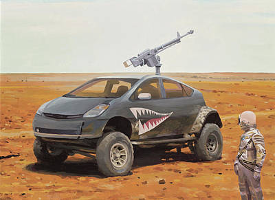 Painting - Prius Road Machine by Scott Listfield
