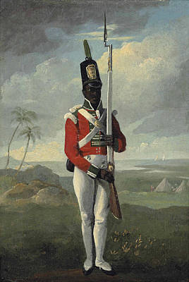 Painting -  Private Of The Light Company 8th West Indian Regiment, Dominica by English School