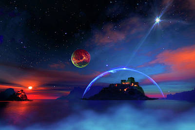 Digital Art - Private Planet  by Don White Artdreamer