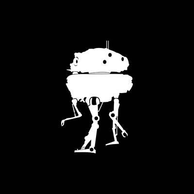Target Threshold Watercolor - Probe Droid by Lienyani Isha