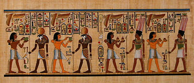 Painting - Procession Of Amun And Re by Anonymous