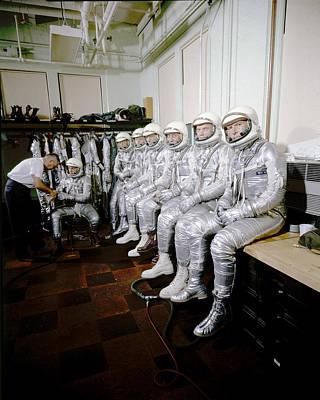 Photograph - Project Mercury Astronauts by Ralph Morse