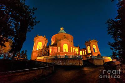 Photograph - Pronaos And Facade Of San Luca Night by Benny Marty