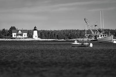Photograph - Prospect Harbor Point Light by Todd Henson