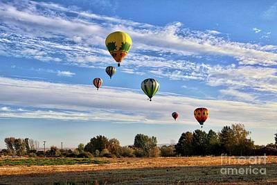 Photograph - Prosser Balloon Rally Landscape 2018 by Carol Groenen