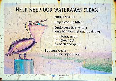 Photograph - Protect Our Waterways by Cynthia Guinn