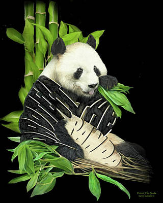 Mixed Media - Protect The Panda by Carol Cavalaris