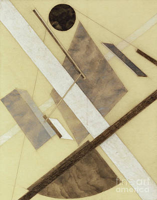 Painting - Proun Path Of Energy And Dynamic Flows by El Lissitzky