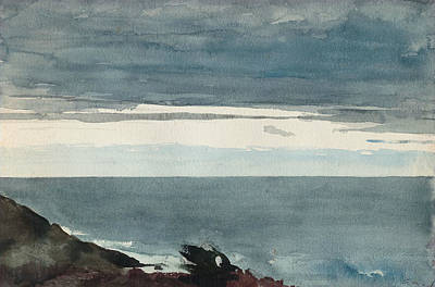 Drawing - Prout's Neck, Evening by Winslow Homer