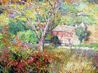 Painting - Provence Farm House by David Lloyd Glover