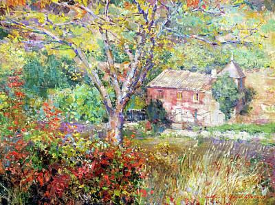 Painting - Provence Farm House by David Lloyd Glover