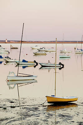 Sunset Photograph - Provincetown Harbor by Walter Bibikow
