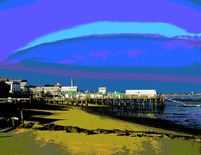 City Sunset Mixed Media - Provincetown, New England by Charles Shoup