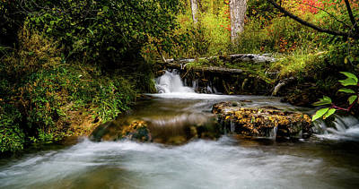Photograph - Provo Deer Creek Cascades by TL Mair