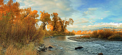 Photograph - Provo River Fall Panorama by Johnny Adolphson