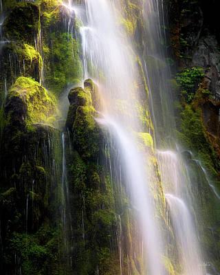 Photograph - Proxy Falls Soft Light by Leland D Howard