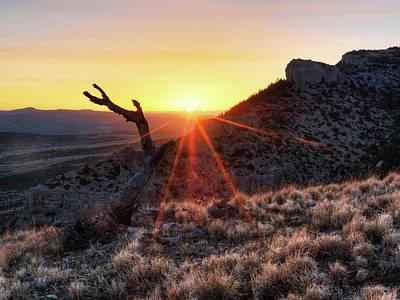 Photograph - Pryor Sunrise by Leland D Howard