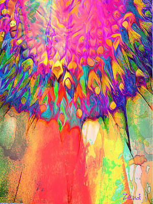 Digital Art - Psychedelic Daisy by Cindy Greenstein