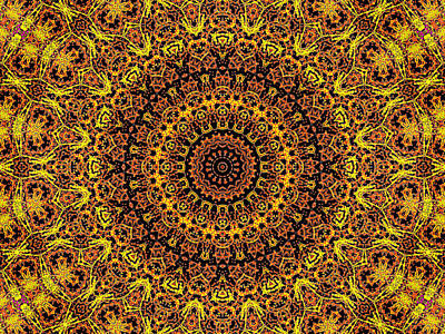 Digital Art - Psychedelic Kaleidoscope Abstract Pattern 15 by Artist Dot