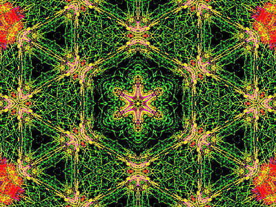 Digital Art - Psychedelic Kaleidoscope Abstract Pattern 7 by Artist Dot