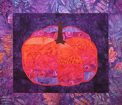 Tapestry - Textile - Psychedelic Pumpkin by Pam Geisel
