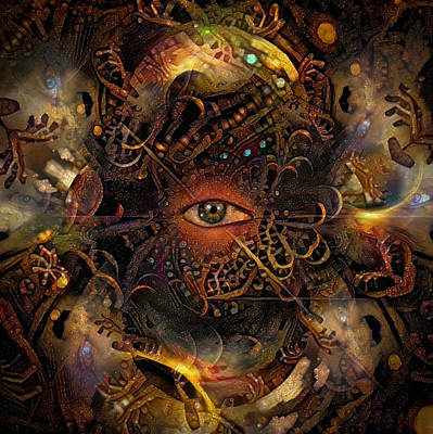 Surrealism Digital Art Rights Managed Images - Psychedelic Vision Royalty-Free Image by Bruce Rolff