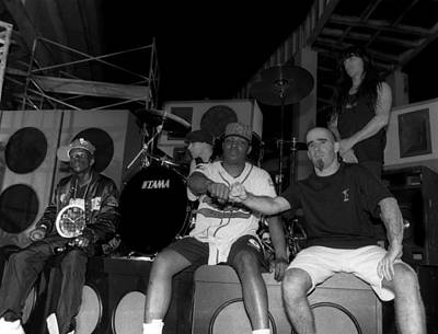 Photograph - Public Enemy And Anthrax Video Shoot In by Raymond Boyd
