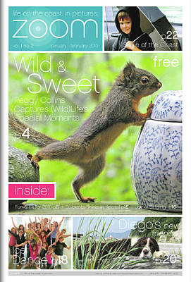 Photograph - Published In Zoom Magazine - Jan. - Feb. 2010 Front Cover Squirrel by Peggy Collins