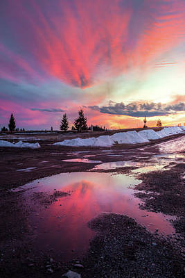 Photograph - Puddle Reflection / Columbia Falls, Montana  by Nicholas Parker