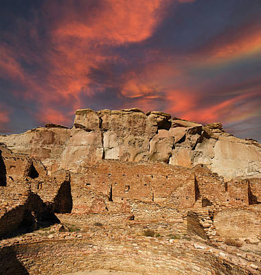 Photograph - Pueblo Bonito Sky by Kathleen Bishop