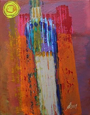 Painting - Puebloan Original Painting by Sol Luckman