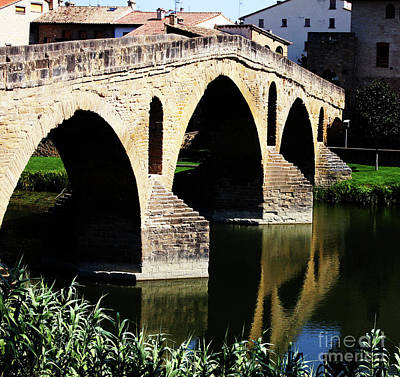 Photograph - Puente Romanico Reflections by Rick Locke