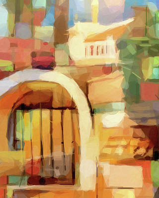 Painting - Puerta Abstract by Lutz Baar