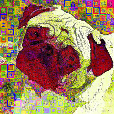 Photograph - Pug Dog Modern Art 20190205sq P28 by Wingsdomain Art and Photography