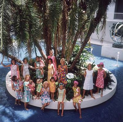 Walking Photograph - Pulitzer Fashions by Slim Aarons