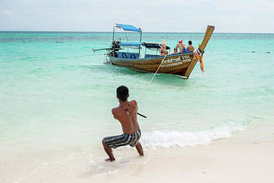 Photograph - Pulling In The Boat In Krabi by Ian Robert Knight