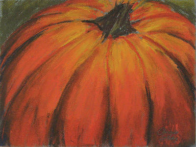 Pastel -  Pumpkin in Pastel by Charlotte DeMolay