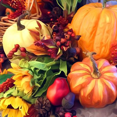 Claude Monet - Pumpkin Profusion  by Dana Roper