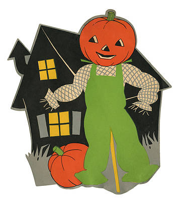 Photograph - Pumpkin Scarecrow by Graphicaartis