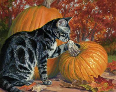 Painting - Pumpkin Season by Lucie Bilodeau