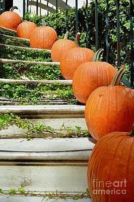 Thomas Kinkade Royalty Free Images - Pumpkins Galore Royalty-Free Image by Linda Covino