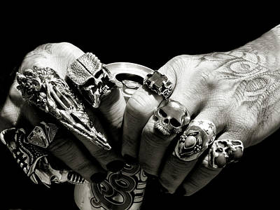 Photograph - Punk Rocker Hands by Jeffrey PERKINS