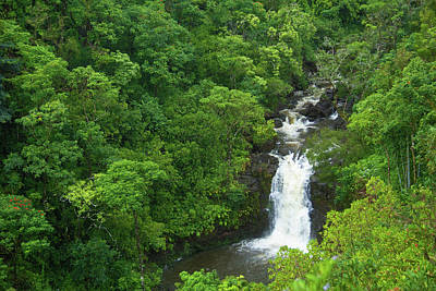 Photograph - Puohokamoa Falls by Marie Leslie