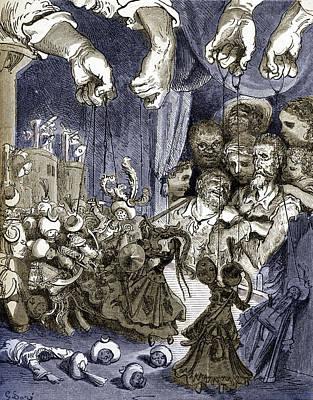 Painting - Puppets From Don Quixote De La Mancha By Miguel De Cervantes by Gustave Dore