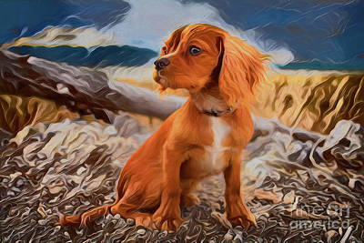 Painting - Puppy A18223 by Ray Shrewsberry